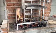 Outdoor Barbeque, Outdoor Kitchen Patio, Pizza Oven Outdoor, Outdoor Kitchen Design, Outdoor Cooking, Barbecue Design, Grill Design, Diy Grill, Bbq Diy