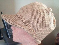 Ball Cap Knitted Custom Unisex Visor Beanie Slouchy Oversized  Hand Knit Hat Hip Hop Chemo