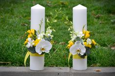 candles Table Arrangements, Floral Arrangements, Wedding Bouquets, Wedding Dresses, Diy Home Crafts, Weeding, Pillar Candles, Event Planning, Decoupage