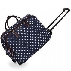 Cestovná taška - veľká cestovná, bodkovaná, tmavomodrá