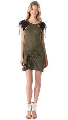 Loving all of this draping and ruching -- IRO Reba Dress