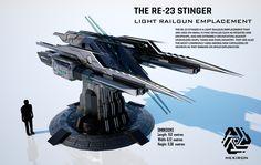 RE-23 Stinger Light Railgun Emplacement (FULL HD) by Universe-of-Dusk.deviantart.com on @DeviantArt