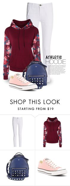 """""""Floral Printed Hoodies 2827"""" by boxthoughts ❤ liked on Polyvore featuring rag & bone, Fendi and Converse"""