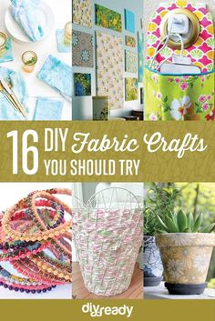 16 DIY Fabric Crafts | Easy and Cute Projects by DIY Ready at http://diyready.com/diy-fabric-crafts/