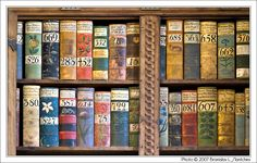 Czech Republic: Prague Castle: Bookcase at the Old Royal Palace