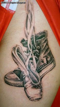 LOVE this idea, want it! Next idea! Just changing the shoes =) Cheer/Hip-hop?
