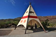 Teepee Rest Stop along the River Road  scenic drive- Big Bend Ranch State Park, Texas
