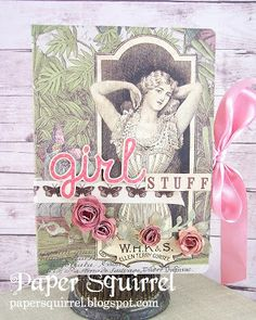 Altered Journal--SVG DT Rolled Roses and Fancy Flourishes-Two