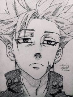 Read >Nanatsu no taizai< from the story Anime images uwu by (¡(SpIcE iT uP)! Anime Character Drawing, Manga Drawing, Manga Art, Anime Art, Drawing Faces, Drawing Tips, Naruto Drawings, Anime Drawings Sketches, Anime Sketch