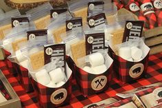 Smore Favor Box Smore Favors Lumberjack Birthday Printables