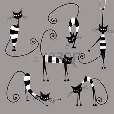 Dr les chats ray s de collecte pour la conception de votre Banque d'images
