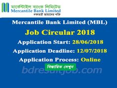 mercantile bank limited mbl job circular 2018