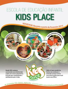 Anúncio Kid's Place - Revista Viva S/A - Alphaville - SP