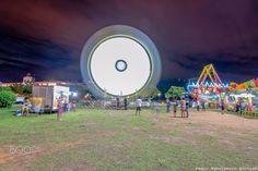 Movimento de luzes - Movimento de luzes de uma roda gigante.
