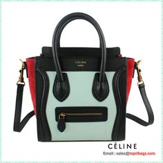 celine luggage nano boston bags fluorescence rose