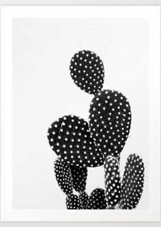 19 Tips for Creating a Gorgeous Black and White Gallery Wall | @stylecaster | Cactus art print
