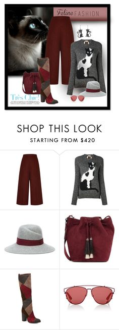 """""""Blue Eyed Wonder"""" by michelletheaflack ❤ liked on Polyvore featuring Proenza Schouler, N°21, Maison Michel, Loeffler Randall, Frye, Christian Dior, NOVICA, catstyle and polyvorecontests"""