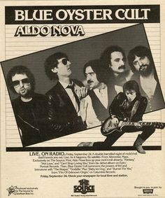 Blue Oyster Cult Promotional Ad https://www.facebook.com/FromTheWaybackMachine