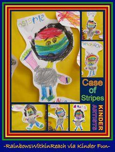 """Bad Case of the Stripes"" Kindergarten Response via RainbowsWithinReach"