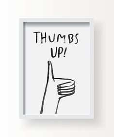 8.5 x 11 Thumbs Up print by tuesdaymourning on Etsy