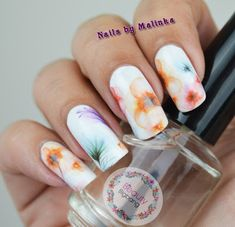 Nails by Malinka: Beauty BigBang bloemen water decals