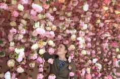 Rebecca Louise Law is known for her breathtaking installations that consist of thousands of hanging flowers suspended overhead. Last February, she was comm