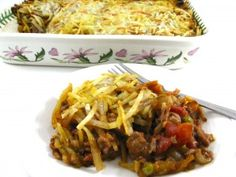 Dinner this weekend-Classic Shepherd's Pie Made Skinny! It really has it all with lean protein from the ground turkey, lots of veggies and topped with low calorie hash browns. The sauce is delightfully rich in flavor. Each serving, 356 calories, 8 grams of fat and 9 Weight Watchers POINTS PLUS. http://www.skinnykitchen.com/recipes/classic-shepards-pie-made-skinny/