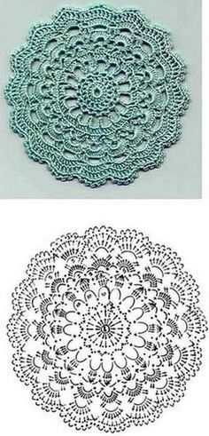Ideas crochet patterns circle ganchillo for 2019 Mandala Au Crochet, Crochet Circles, Crochet Doily Patterns, Crochet Diagram, Crochet Chart, Crochet Squares, Crochet Circle Pattern, Beau Crochet, Crochet Diy