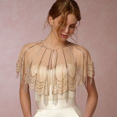 Find More Wedding Jackets / Wrap Information about Luxury Shiny Nude Beaded Bridal Boleros de renda Capes 2016 Tassels Wedding Shawls Wedding Jackets Wedding Accessories B122,High Quality accessories club,China accessories bridal Suppliers, Cheap accessories craft from do dower LaceBridal Store on Aliexpress.com