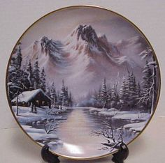 PEACEFUL SOLITUDE- Ron Huff Limited Edition HR1708 Franklin Mint Heirloom Plate