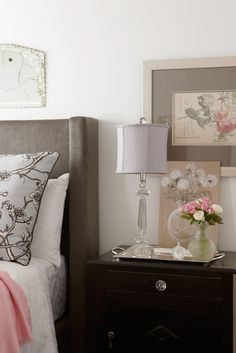 Grey Headboards Design, Pictures, Remodel, Decor and Ideas - page 8