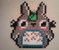 Totoro perler beads by NimzyKat