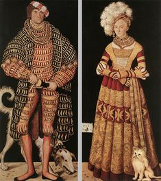 Portraits of Henry the Pious, Duke of Saxony and his wife Katharina von Mecklenburg Lucas Cranach the Elder