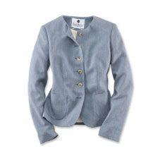 Robertson-Blazer aus edlem Sommer-Tweed Blau meliert
