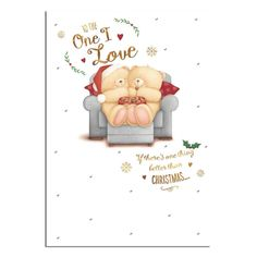 One Love Love Forever Friends Christmas Card
