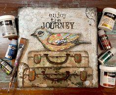 Enjoy the Journey - Mixed Media Art