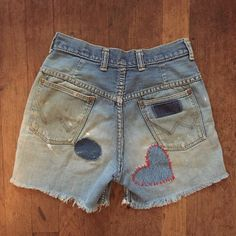 70s Wrangler well-worn patched DENIM cut-offs… just listed!