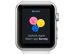 Outlook Watch App Survey designed by Johny vino™. Connect with them on Dribbble; Survey Design, Watch Image, Apple Watch Apps, Web Design, Mobile Ui Design, User Interface, Smart Watch, Design Inspiration, Watches