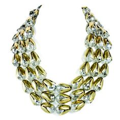 Triple Strand Bead Cap Necklace, $100, now featured on Fab.