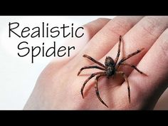Simple/Easy; Realistic Polymer Clay Spider Tutorial - YouTube