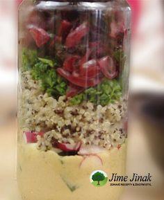 Quinoový salát s mangoldem do skleničky Vegetables, Hummus, Quinoa, Fit, Shape, Vegetable Recipes, Veggies