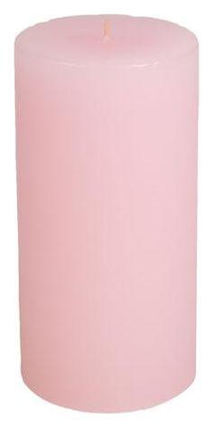 Classic Hurricane Pillar Candles (Pair) | Petale Pink