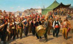 Celebration of the Eid festival, Ottoman Empire.