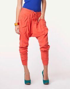 orange/red summer pants