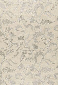 Monceau Linen Embroidery in Zinc from Schumacher Fabrics