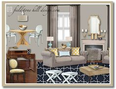 Great room design by Fieldstone Hill Design.