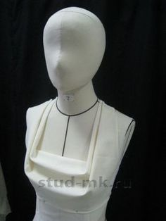 tons and tons of beautiful muslin drapery square cowl