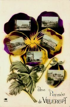 Villerupt France 1906 Six Town View Pansy Vintage Real Photo Postcard | Moodys Collectible Postcards on eBay - Lydie 7-1-1926