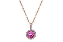 Pink Sapphire and Diamond Pendant – test_style