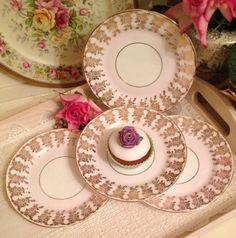 Adderley Vintage Tea Plates set of four. by VerasTreasures on Etsy, £20.00